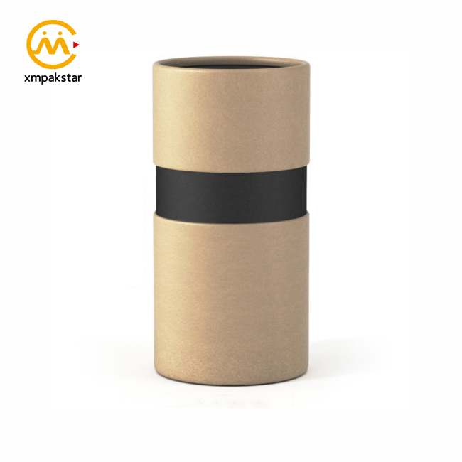 Wholesale custom cylinder box black brown white round paper tube for candy packaging