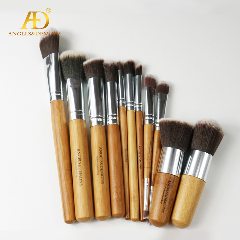 Wood Handle Makeup Brush Set 11pcs/set Free Sample