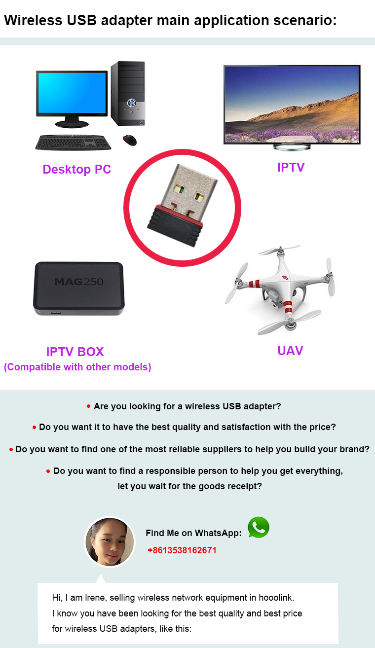 Factory direct high quality 802.11N 150Mbps usb wifi dongle raspberry pi