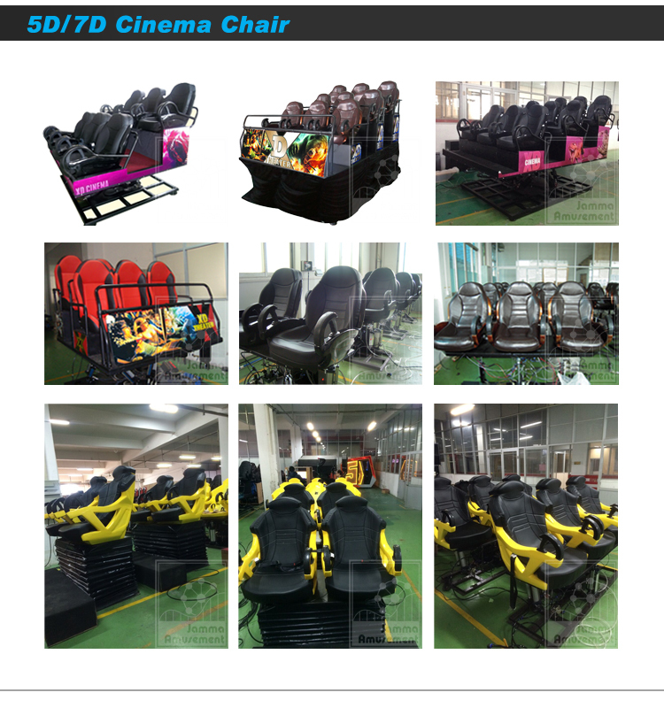 2019 amusement indoor playground 3DOF 5d/6d/7d game 9d vr 6 seats with cabinet for sale