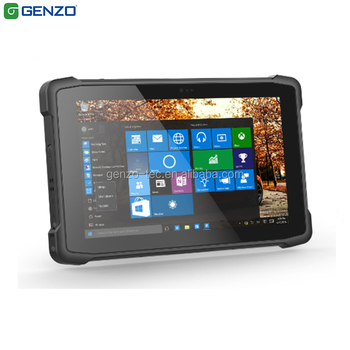 cheap rugged tablet 8 inch industrial windows 10 with serial port and 1/2d barcode scanner and NFC