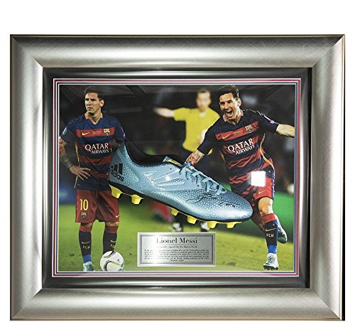 e9eb12738 Get Quotations · Signed Lionel Messi 2015-16 Framed Adidas Boot - Barcelona  - Autographed Soccer Cleats