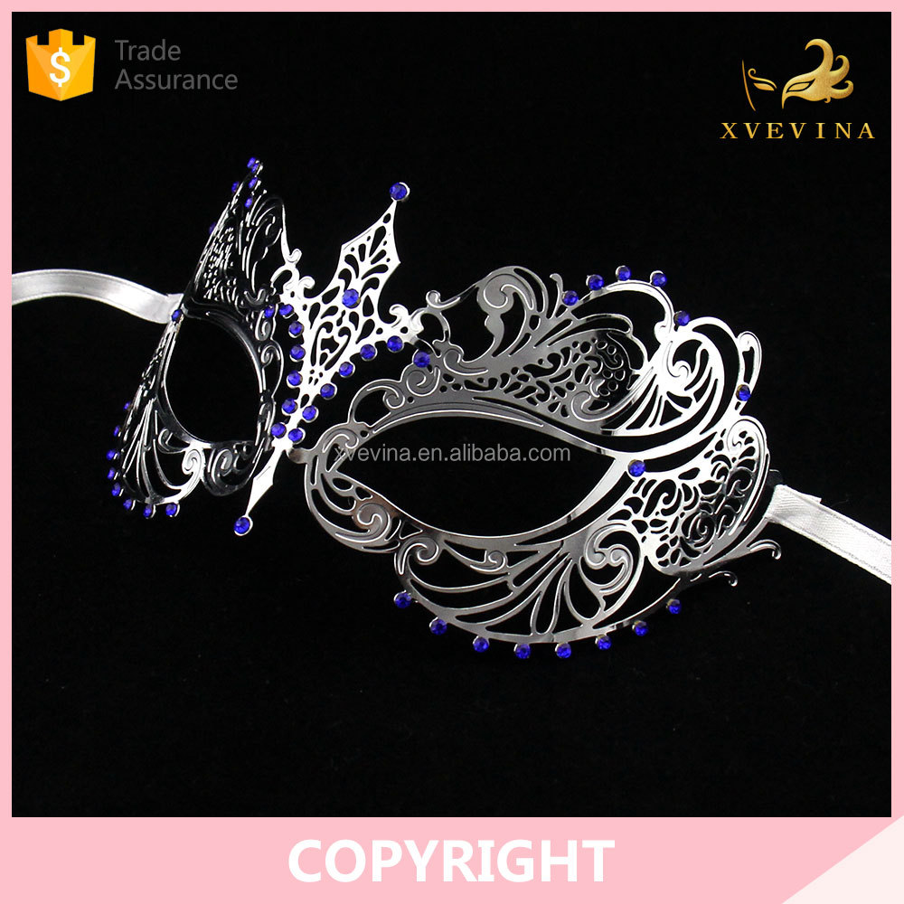 Festive & Party Supplies new style Masquerade Crown silver party metal mask