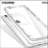 Soft Ultra-thin Shock-Absorption Air Cushioned Bumper Crystal and Anti-Scratch Back Cover Case for iPhone 6/6s
