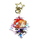 Vograce holographic charms clear acrylic custom printed transparent hologram keychain,make your own acrylic keychain with anime