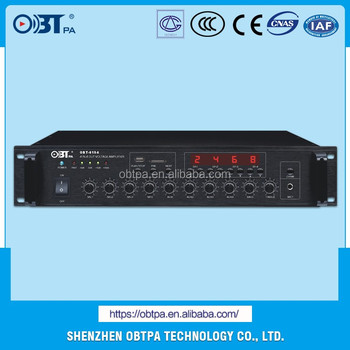 Obt 6154 2u 19inch Pa System 4 Zones 150w Amplifier With