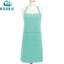 Metal Buckle Cotton Waterproof Long Art Apron for Adults