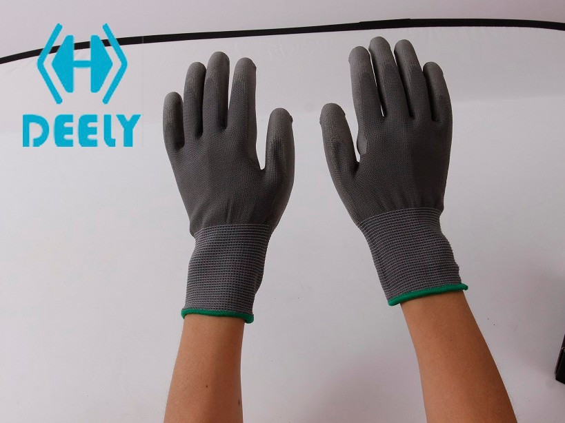 13G en 388 The polyurethane palm coating provides good grip and durability work gloves