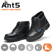 cow split leather industrial steel toes construction safety shoes
