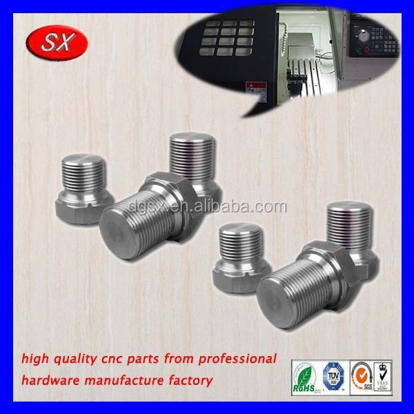 Customized Stainless steel/Aluminum cnc lathe turning parts,cnc machined threaded bolts for desk and chair furniture parts