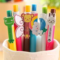 rainbow pen,cartoon lovely plastic ball pen