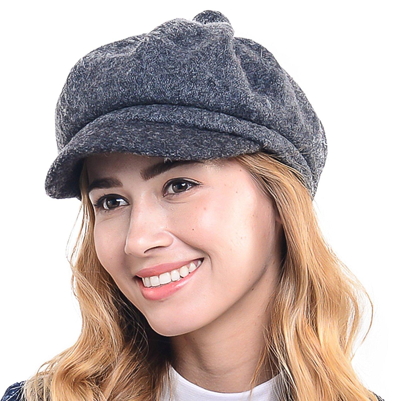 d4c7c0cdfe5 Get Quotations · fashion lady wool newsboy Beret Hat Flat cabbie Golf driving  cap NB-YD-01Wimdream