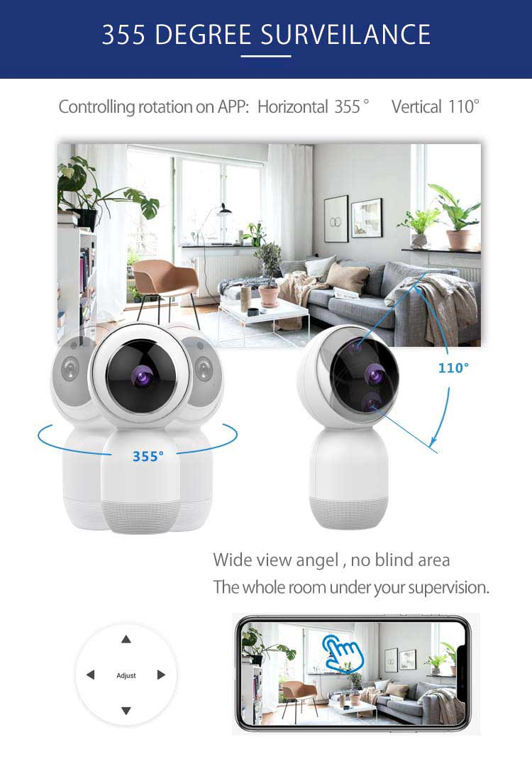 Smart Home Wireless WiFi CCTV Camera Tuya App WiFi Mini IP Camera-Other Consumer Electronics