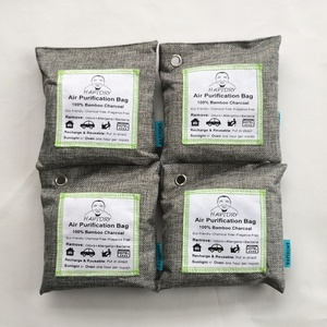 4x200g bundle pack household natural moso bamboo charcoal air purifying bag