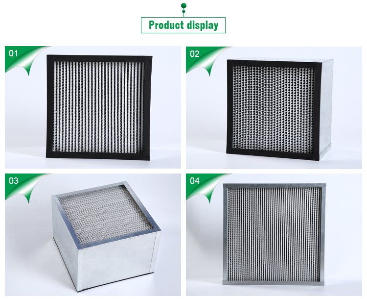 Merv 18 19 H12 13 deep pleated HEPA filter for air filter hospital with EN779 ISO16890