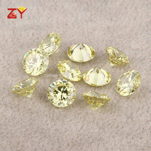 China's Gem Factory AAA Cubic Zirconia, Peridot Yellow 1mm CZ Loose Stone