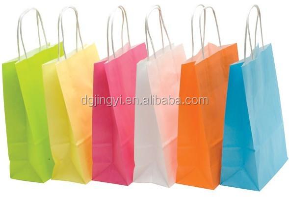 Whosale Gift Kraft Paper Shopping Bag/fancy Color Paper Bag ...