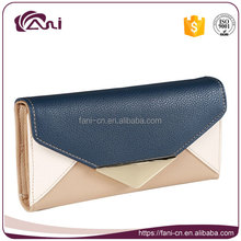 Factory wholesale women wallet High quality PU leather envelope wallet for lady