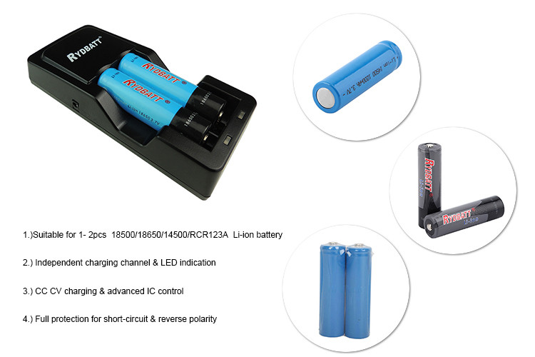 Small appliance remote control 500mA li-ion battery charger