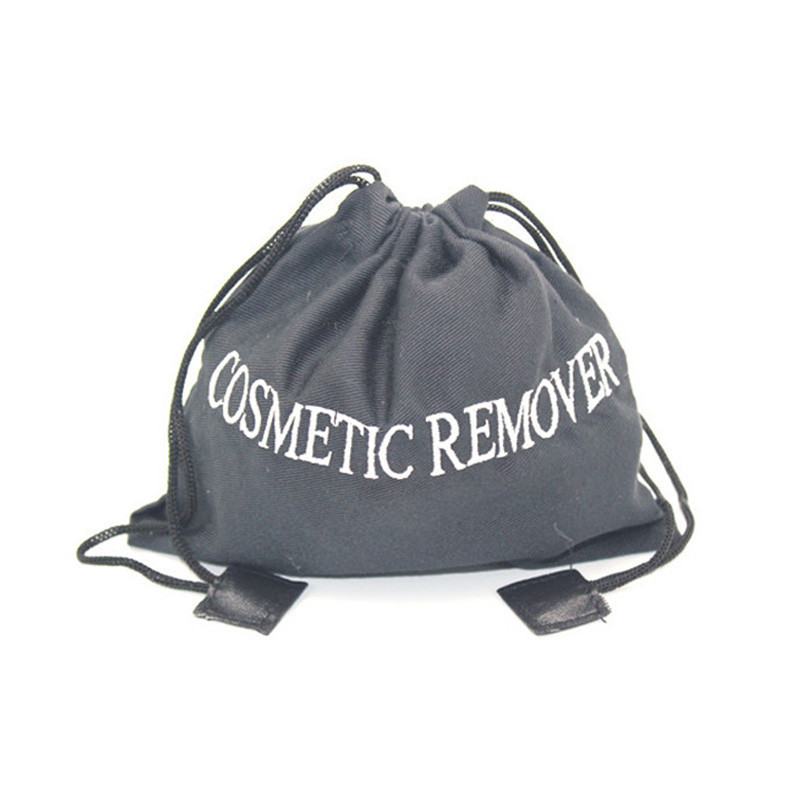Custom poly twill elegant drawstring cosmetic bag