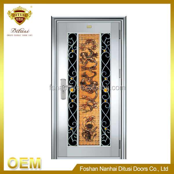 Perfect surface Finished swing hand forge safety door JH521