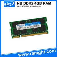 Low density sodimm ddr2 533 667 800 mhz 4gb memory ram
