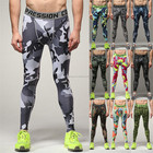 Explosion models men's cycling running fitness camouflage stretchy pants basketball training pants quick-drying sports pants