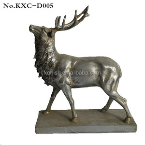 Polyresin Artificial Home Decor Crafts Silver Deer Figurines