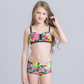 Ht Lgs Custom Kids Bathing Suit  Summer New Design Hot Sex Bikini Young Girl