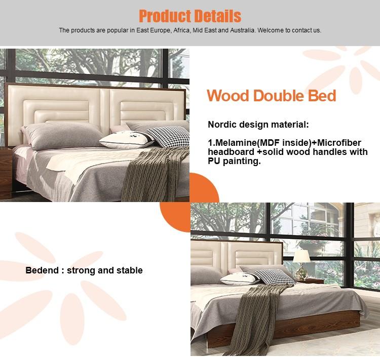 moderne en bois lit king size derni re king size lit. Black Bedroom Furniture Sets. Home Design Ideas
