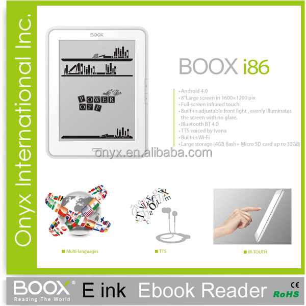 new innovative items e-ink touch screen ebook reader 8 inch android 4 0  wifi, View new innovative items, BOOX Product Details from Onyx  International