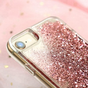 Fashion Bling Custom Liquid Glitter Mobile Phone Accessories for iPhone 6 7 8 Universal Cell Phone Case