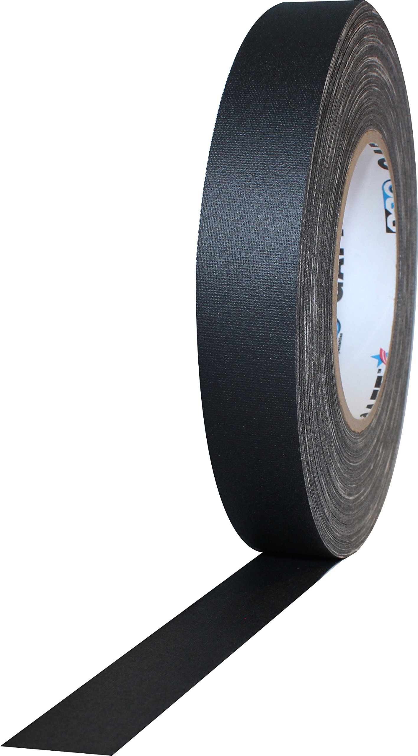 """1"""" Width ProTapes Pro Gaff Premium Matte Cloth Gaffer's Tape With Rubber Adhesive, 11 mils Thick, 55 yds Length, Black (Pack of 1)"""