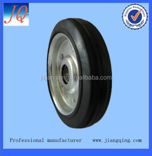 rubber wheel with bearing used for handcart and equipment