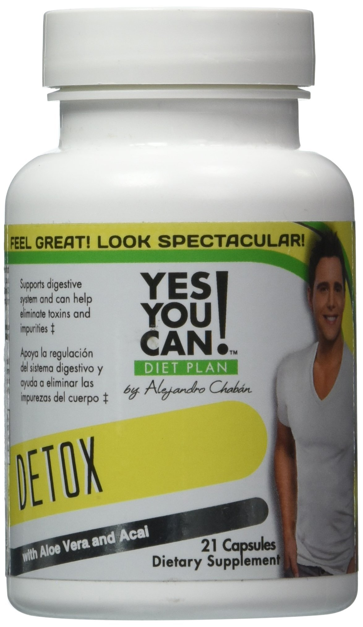 Yes You Can! Diet Plan 7 Day Quick Cleanse to Support Detox, Reach Ideal Weigh & Increase Energy Levels - Desintoxica tu Cuerpo y Ayuda a Adelgazar y Bajar de Peso - 21 Capsules