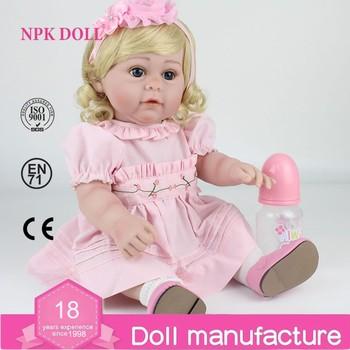 Npkdoll Penuh Silikon Reborn Bayi Boneka 17 Inch Lembut Vinil Perempuan  Putri Adora Hidup Toys untuk 705c4131b7