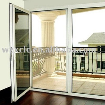 Luxury aluminum folding screen door buy horizontal for Accordion retractable screen doors