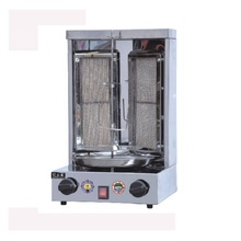 Commerciële Vlees Griler 2 Branders Gas Doner <span class=keywords><strong>Kebab</strong></span> Making Machine Shoarma <span class=keywords><strong>Grill</strong></span>