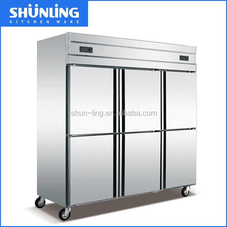 6 doors Commercial Good Quality Heavy duty Cold drink industrial refrigerator