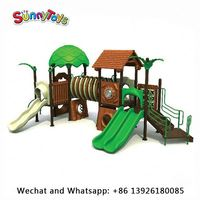 China kids plastic slide factory children outdoor playground outdoor climbing nets