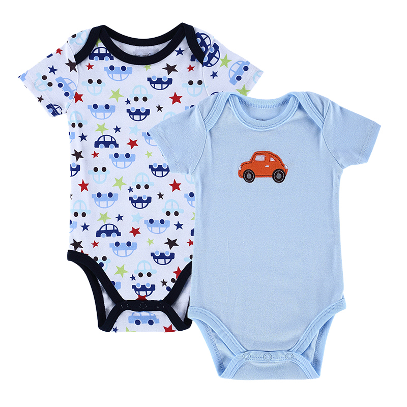 1261e81ef 2PCS/LOT Baby Rompers Baby Cotton Short Sleeve Cartoon Romper Baby Boy Girl Summer  Clothing Hot Sale 2015 New Baby Boy Clothes