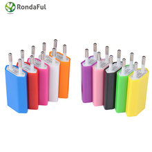 2 Pcs High Quality 5V 1A EU Plug AC Travel USB Wall Charger for iPod for iPhone 3GS 4G 4S 5 Cell Phones Adapter, Hot Selling