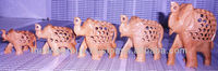 Carving of Wooden Elephants-4