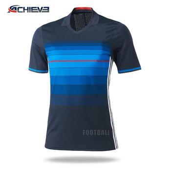 15c043cdccba0 Venta al por mayor últimos diseños de camisetas de fútbol juventud jersey  ...