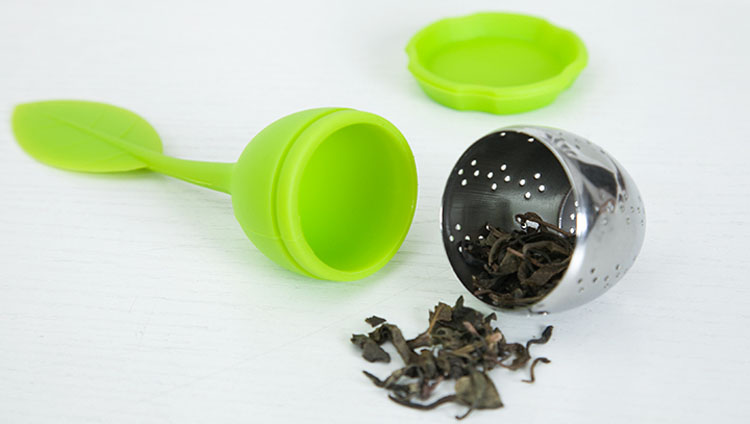 Cheap price custom stainless steel silicone leaf tea infuser
