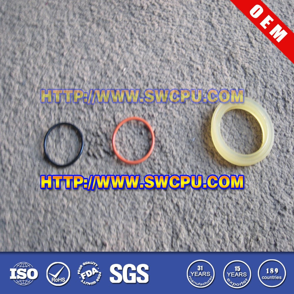 Custom made colored plastic snap rings & plastic o rings
