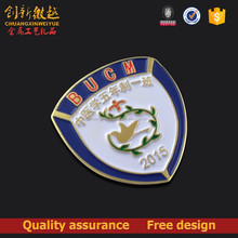 Custom metal badge,football badge with paint color