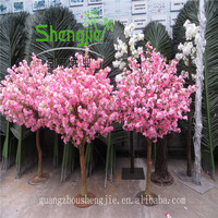 SJLJ013222 small artificial tree cherry blossom tree / fake blossom tree for wedding table centerpieces