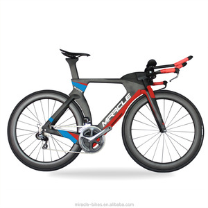 Newest Red Miracle 700C 48/51/54/57cm Carbon Fiber Triathlon Complete bike Time trial carbon bicycle