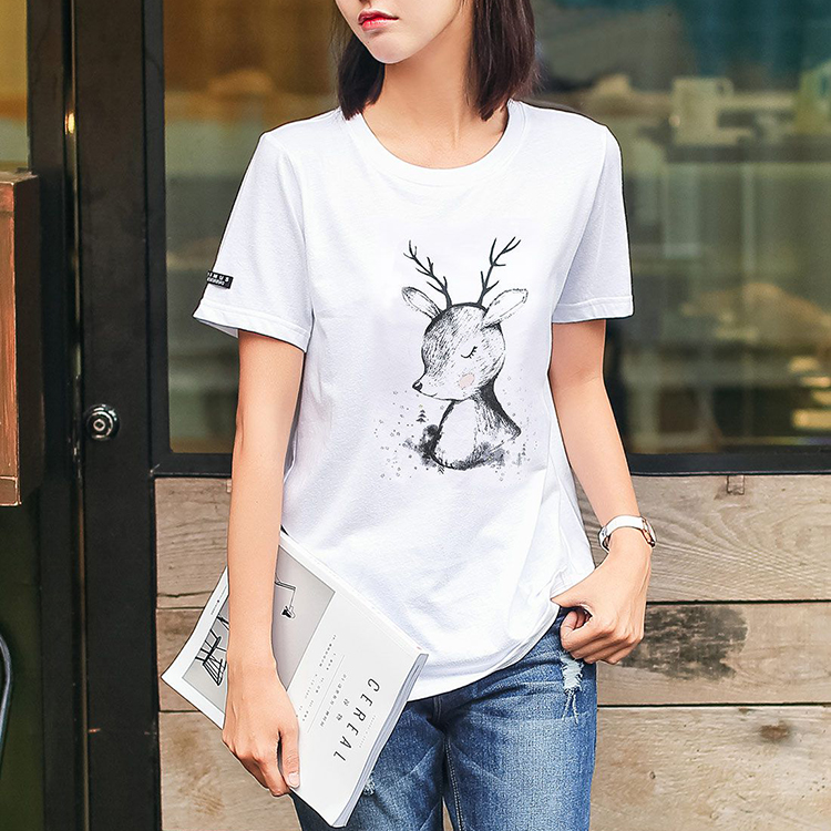 Custom Cheap Bulk Plain White Woman Fashion Design Custom Printing 100% Cotton Soft Loose Women's t shirts